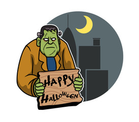 A vector illustration for Halloween day theme