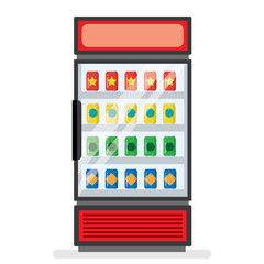 showcase refrigerator for cooling drinks