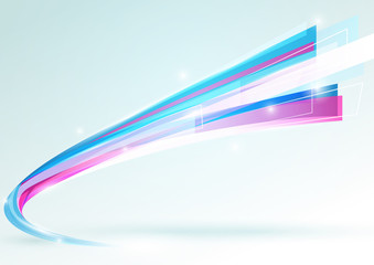Abstract lines curve stripe on bright background. vector design