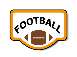American football banner vector image