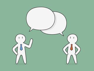 Discussion. Business Concept Doodle Illustration.