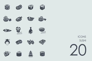 Set of sushi icons