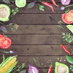 Vegetarian Watercolor Menu Template