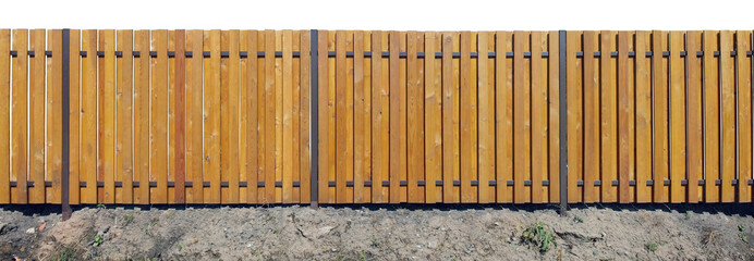 Long new yellow fence