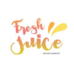 Healthy juice logo vector logo template. hand drawing logo.