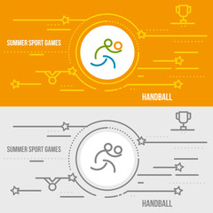 Horizontal banner of summer sport games.