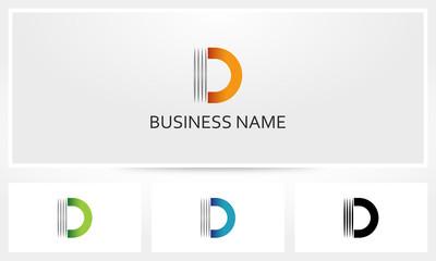 Letter D Line Stripe Logo