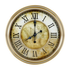Antique clock. 3D illustration.
