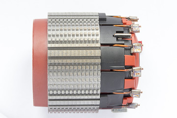the stator of the electric motor