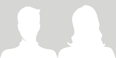 Man, woman profile picture vector