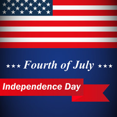 Independence Day badge collection, 4th of July, flag decoration design