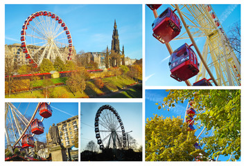 photo collage of luna park at Edinburgh Scotland