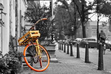 Amsterdam Vintage Bike Black and White