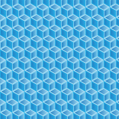 blue gradient double filled geometric pattern background