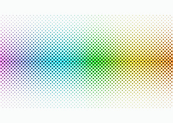Colorful Halftone Screen Dots #Vector Background