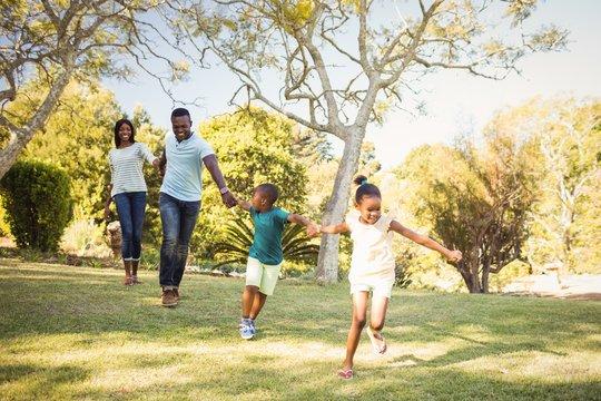 Happy family enjoying together