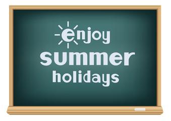 blackboard enjoy summer holidays