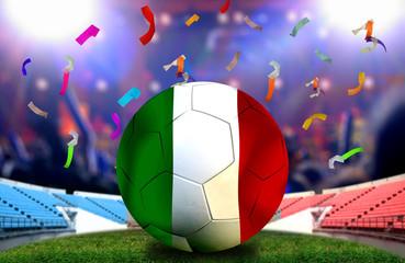 Soccer cup, Euro 2016 France, football championship. symbol of v