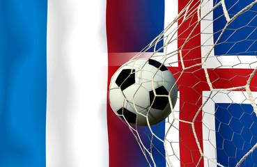 France vs Iceland football tournament match.