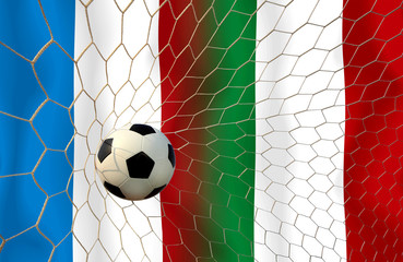 FRANCE and Italy soccer balls.