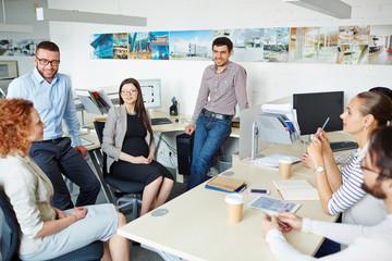 Break in office