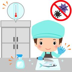 厨房の食中毒対策