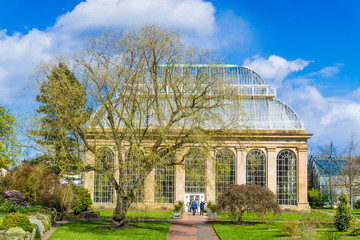 The Victorian Palm House at the Royal Botanic Gardens