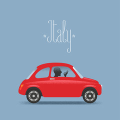 Travel to Italy illustration