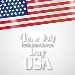 Fourth of July independence day. USA. Vector illustration.