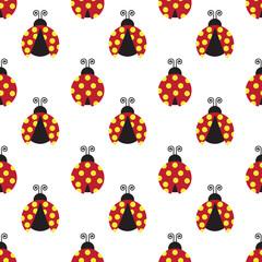 ladybugs vector illustration pattern.