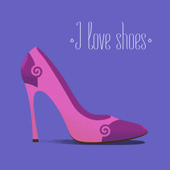 Shoe icon fashion related vector illustration, design element