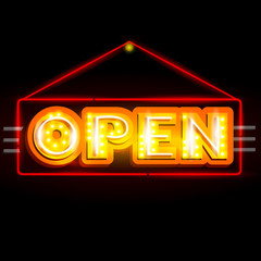 Neon Light signboard for Open sign