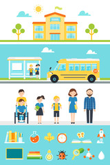 School Education Design Elements and Icons