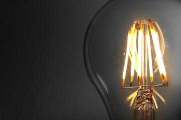 Light bulb, close up