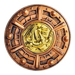 Old decorative bronze shield