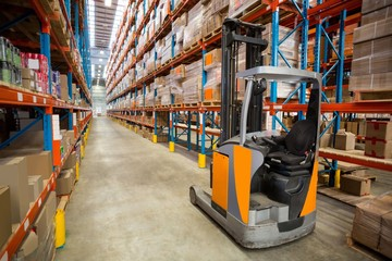 View of pallet truck and goods tidy