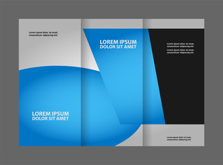brochure design template vector tri-fold