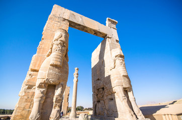 Gate of All Nations, or Xerxes Gate, in Persepolis