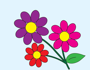 flower cartoon drawing