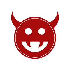 Monster, demon or enemy flat icon for games and websites Design