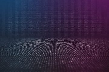 Futuristic Data Stream Abstract Background