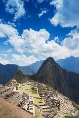 Macchu Picchu on a sunny day