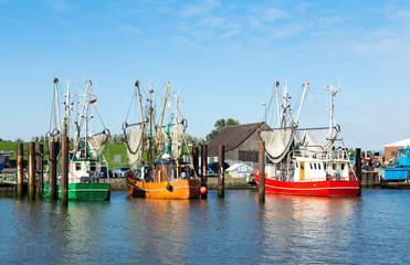 Krabbenkutter im Kutterhafen, Norddeutschland