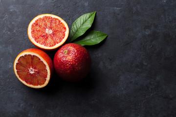 Fresh ripe red oranges