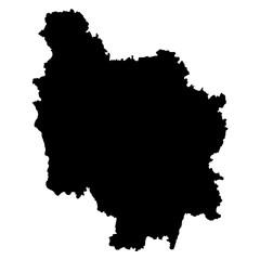 Bourgogne black map on white background vector