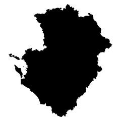 Poitou-Charentes black map on white background vector