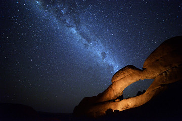 Milky Way over Spitzkoppe, Namib, Namibia