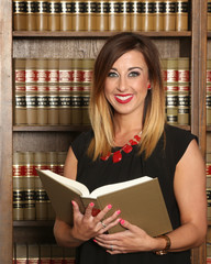 Young attractive woman professional, women in business, law office