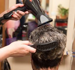 hair dryer hair dryer in a beauty salon