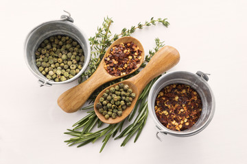 Pepper, Rosemary and Thymus